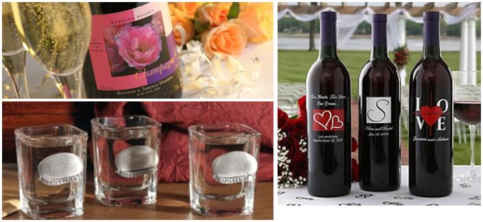 Personalized Wine Bottles For Wedding Gift : wedding party gifts- give the gift of spirits with personalized wine ...