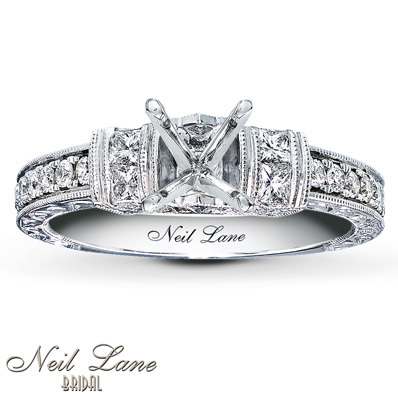 Kay Jewelers Diamond Ring Setting 5/8 ct tw Diamonds 14K White Gold- Kay Design-A-Ring™