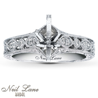 photo of Kay Jewelers Diamond Ring Setting 1/4 ct tw Round-cut 14K White Gold- Kay Design-A-Ring™