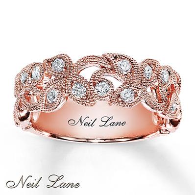 Kay Jewelers Diamond Ring 1 2 Ct Tw Round Cut 14k Rose Gold Ladies Diamond Fashion