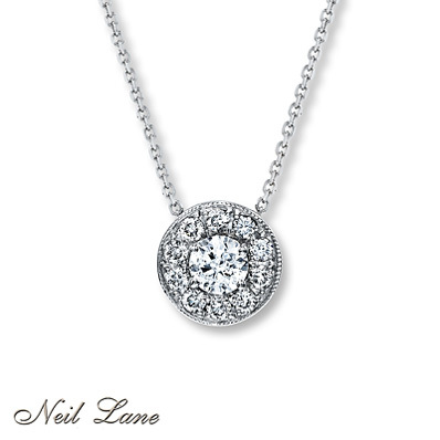 d09967ad0 Kay Jewelers Diamond Necklace 3/4 ct tw Round-cut 14K White Gold- More