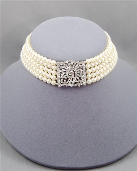 Elegant bridal choker from I'm Over It
