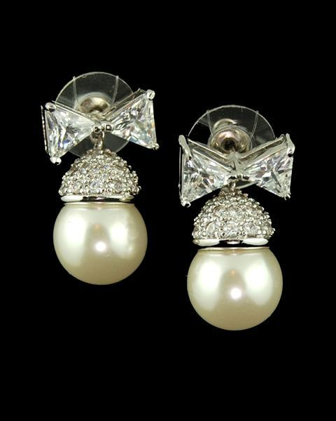 Pearl earrings from I'm Over It