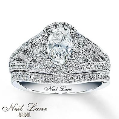 photo of Kay Jewelers Diamond Bridal Set 1 5/8 ct tw Oval-cut 14K White Gold- Bridal