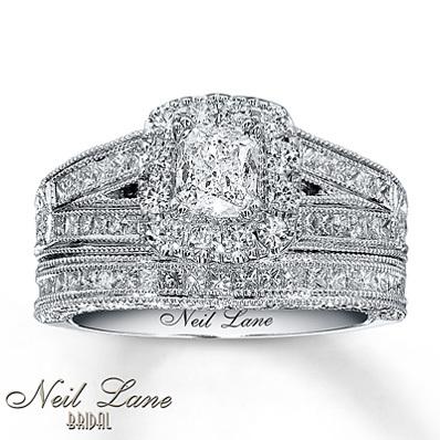 photo of Kay Jewelers Diamond Bridal Set 1 5/8 ct tw Cushion-cut 14K White Gold- Bridal