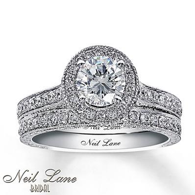 photo of Kay Jewelers Diamond Bridal Set 2 ct tw Round-Cut 14K White Gold- Bridal