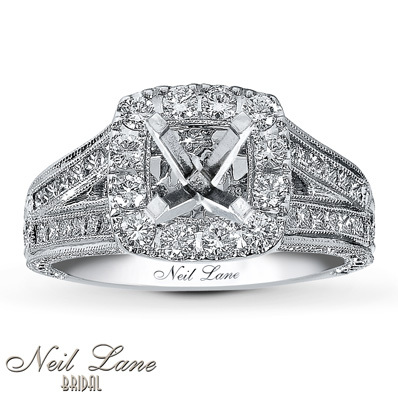 photo of Kay Jewelers Diamond Ring Setting 1 1/8 ct tw Round-cut 14K White Gold- Kay Design-A-Ring™