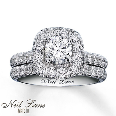 Kay Jewelers Diamond Bridal Set 1 7/8 ct tw Round-cut 14K White Gold- Bridal