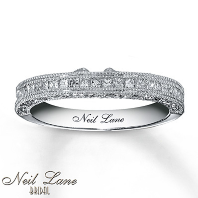 Kay Jewelers Diamond Wedding Band 3/8 ct tw Princess-cut  14K White Gold- Wedding & Anniversary