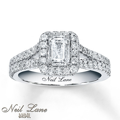 photo of Kay Jewelers Diamond Engagement Ring 1 3/8 carats tw  14K White Gold- Engagement Rings