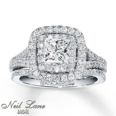 photo of Kay Jewelers Diamond Bridal Set 2 1/4 carats tw 14K White Gold- Engagement Rings