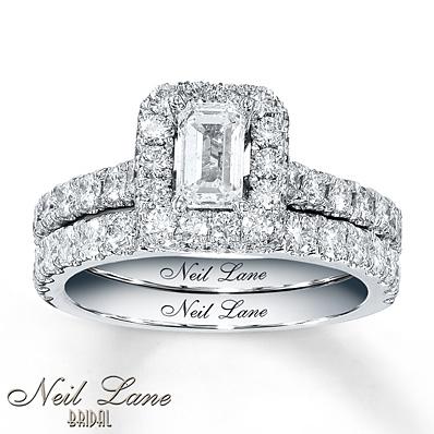 Kay Jewelers Diamond Bridal Set 1 7 8 Carats Tw 14K White Gold Engagement Rings