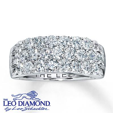 1ae2f3798 Kay Jewelers Diamond Anniversary Band 2 ct tw Round-Cut 14K White Gold-  Rings