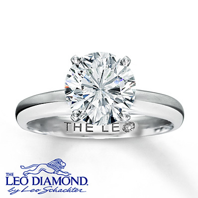 Kay Jewelers Diamond Solitaire Ring 2 ct Round-Cut  14K White Gold- Rings