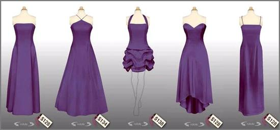 Beautiful purple bridesmaids dresses- styles to fit every figure