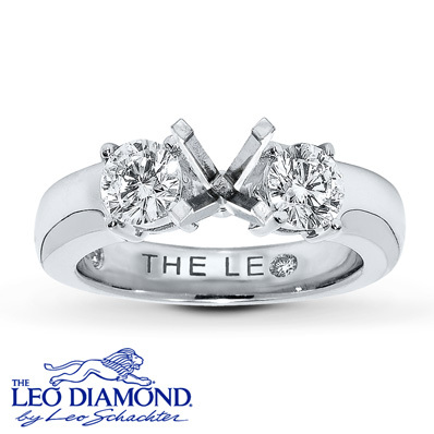 Kay Jewelers Diamond Ring Setting 1 ct tw Round-Cut 14K White Gold- Kay Design-A-Ring™