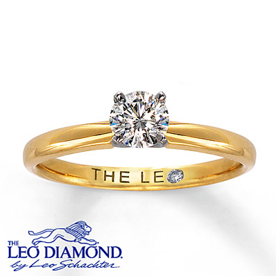 Kay Jewelers Diamond Solitaire Ring 1/2 ct Round-Cut 14K Yellow Gold- Rings