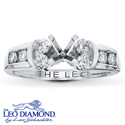 photo of Kay Jewelers Diamond Ring Setting 1/2 ct tw Round-Cut 14K White Gold- Kay Design-A-Ring™