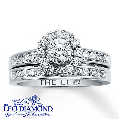 photo of Kay Jewelers Diamond Bridal Set 1 1/8 ct tw Round-Cut 14K White Gold- Rings