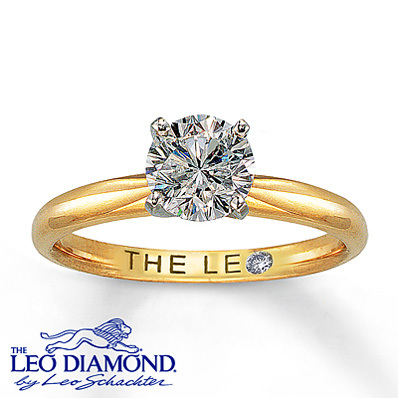 Kay Jewelers Diamond Solitaire Ring 1 ct Round-Cut 14K Yellow Gold- Rings