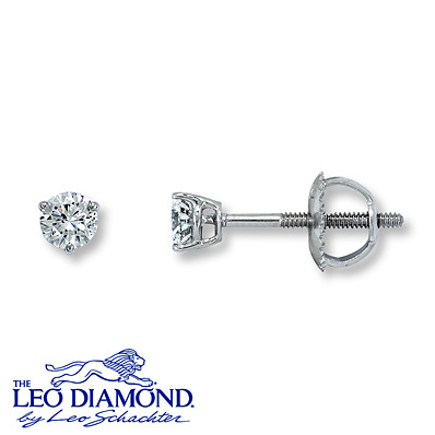 photo of Kay Jewelers Diamond Earrings 1/3 ct tw Round-cut 14K White Gold- Earrings
