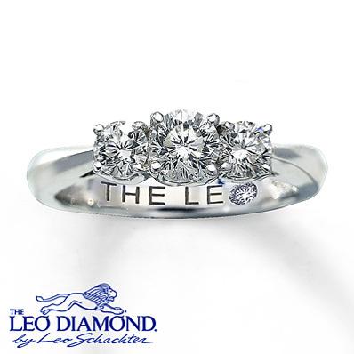 photo of Kay Jewelers Three-Stone Diamond Ring 1 ct tw Round-Cut 14K White Gold- 3-Stone Diamond Rings