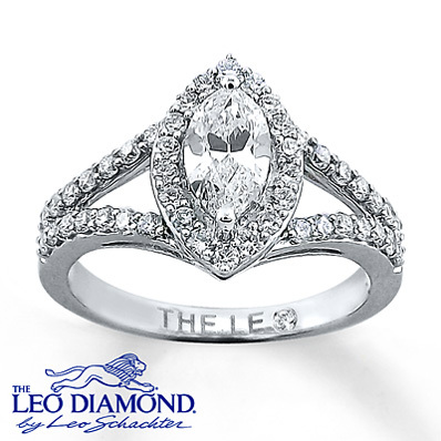photo of Kay Jewelers Diamond Ring 1 ct tw Marquise-cut 14K White Gold- Rings