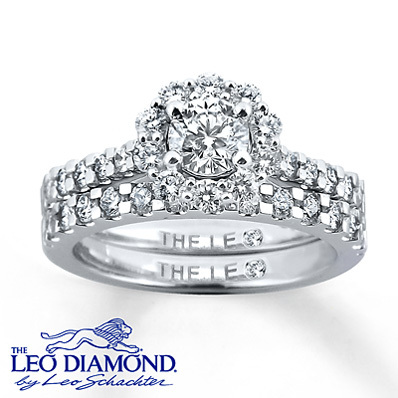 photo of Kay Jewelers Diamond Bridal Set 1 1/3 ct tw Round-cut 14K White Gold- Rings