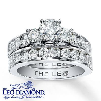 photo of Kay Jewelers Diamond Bridal Set 2 ct tw Round-cut 14K White Gold- Engagement Rings