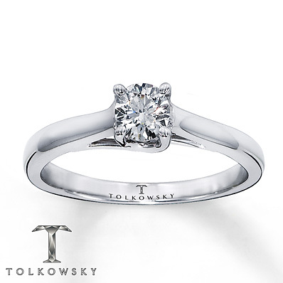 Kay Jewelers Diamond Solitaire Ring 1/3 ct Round-Cut  14K White Gold- Solitaires