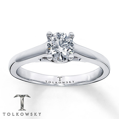 Kay Jewelers Diamond Solitaire Ring 1/2 ct Round-Cut  14K White Gold- Solitaires