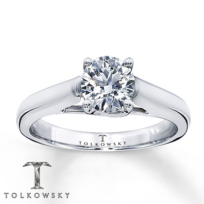 Kay Jewelers Diamond Solitaire Ring 1 ct Round-Cut 14K White Gold- Solitaires