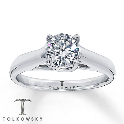 Kay Jewelers Diamond Solitaire Ring 1 1/2 ct Round-Cut 14K White Gold- Solitaires