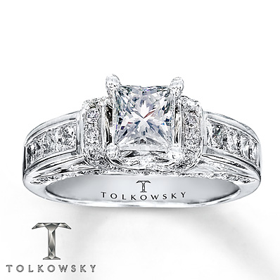 Kay Jewelers Diamond Engagement Ring 1 3/8 ct tw Princess ...