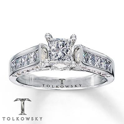 photo of Kay Jewelers Diamond Engagement Ring 1 1/4 ct tw Princess-cut 14K White Gold- Bridal