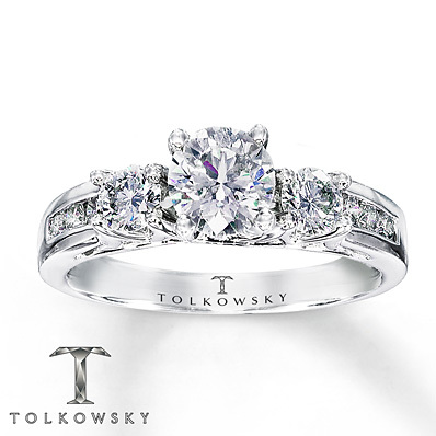 Kay Jewelers Diamond Engagement Ring 1 1/4 ct tw Round-Cut 14K White Gold- Bridal