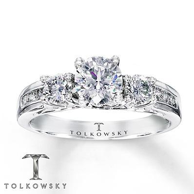 photo of Kay Jewelers Diamond Engagement Ring 1 1/4 ct tw Round-Cut 14K White Gold- Bridal