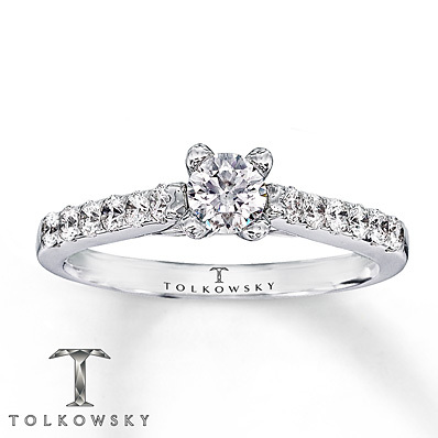 photo of Kay Jewelers Diamond Engagement Ring 5/8 ct tw Round-Cut 14K White Gold- Bridal