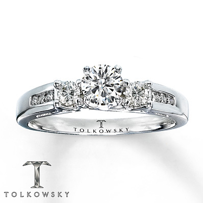 Kay Jewelers Diamond Engagement Ring 5/8 ct tw Round-Cut 14K White Gold- Bridal