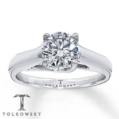 Kay Jewelers Diamond Solitaire Ring 3 ct Round-Cut 14K White Gold- Solitaires