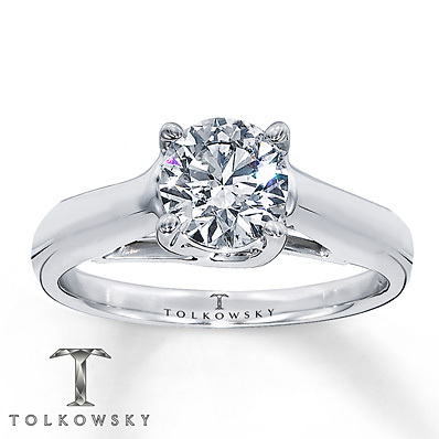 Kay Jewelers Diamond Solitaire Ring 2 ct Round-Cut 14K White Gold- Solitaires