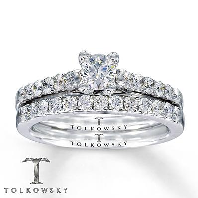 Kay Jewelers Diamond Bridal Set 7 8 Ct Tw Round Cut 14K White Gold Bridal