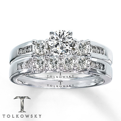Kay Jewelers Diamond Bridal Set 1 ct tw Round-cut 14K White Gold- Bridal