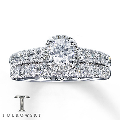 photo of Kay Jewelers Diamond Bridal Set 1 3/8 ct tw Round-cut 14K White Gold- Bridal