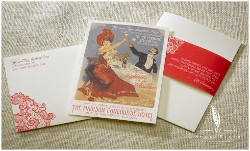 photo of Luxe Couture Stationery Design from Sugar River Stationers