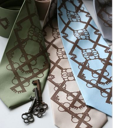 groomsmen ties argyle key