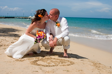A sunkissed beach wedding