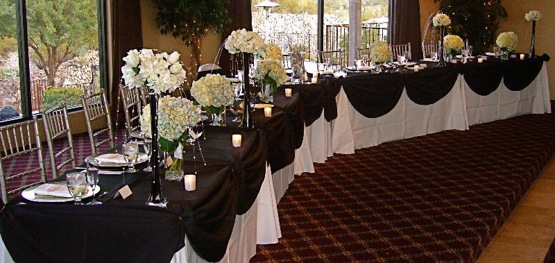 Reception Seating for the Bride and Groom