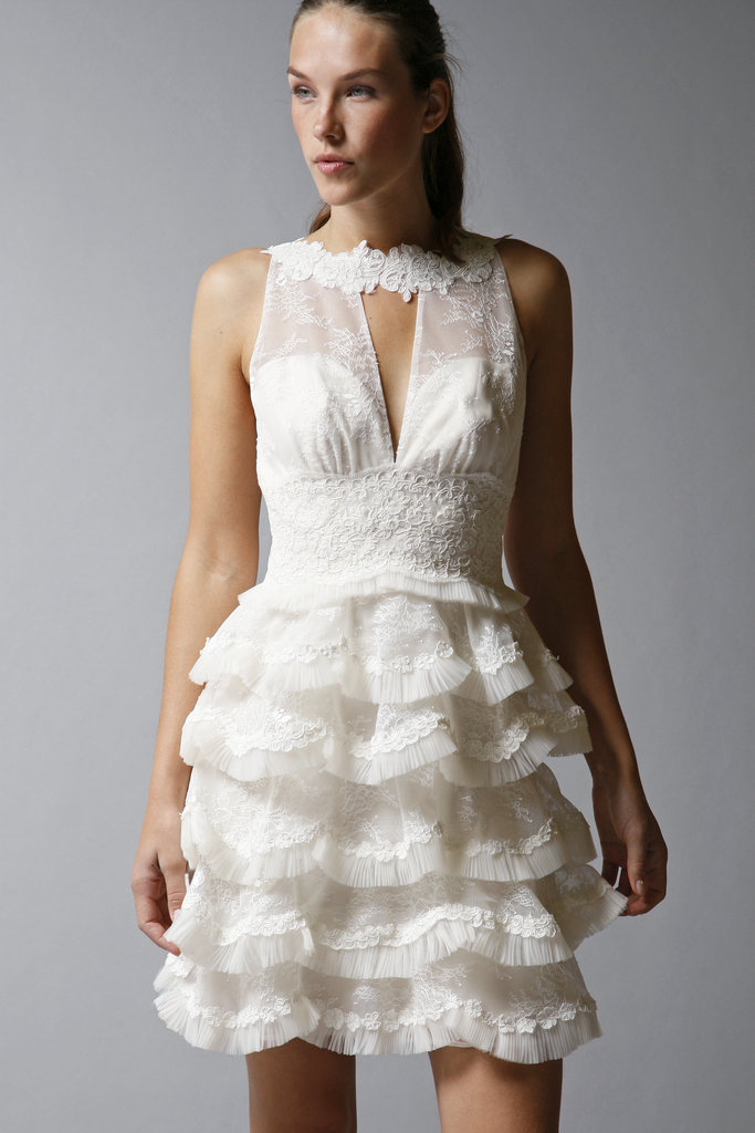 photo of 7 Lovely Little White Wedding Dresses for the Reception