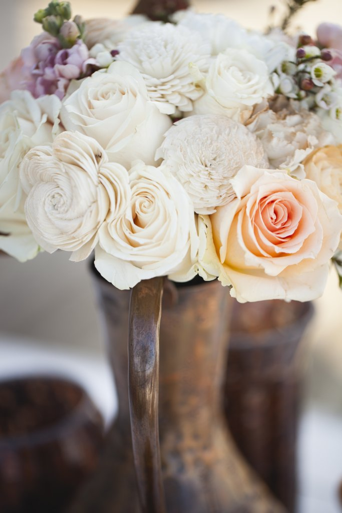 photo of Bronze, Cream and Pale Peach Wedding Inspiration